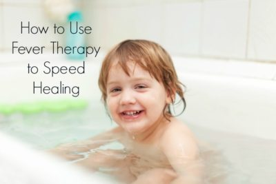 Illustration of Bathing When A Child Has A Fever?