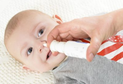 Illustration of Is It Safe For The Baby's Nasal Spray To Touch The Baby's Eyes?
