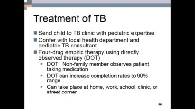 Illustration of The Main Treatment In TB Patients?