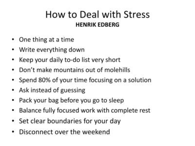 Illustration of Solution To Deal With Stress?