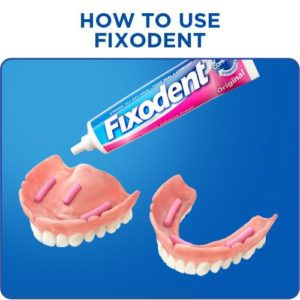 Illustration of The Use Of Denture Adhesives For The Adhesive Of The Casing Of Loose Teeth?