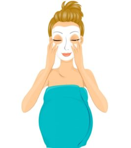 Illustration of Is It Safe For Pregnant Women To Do Facials And Curling Eyelashes?