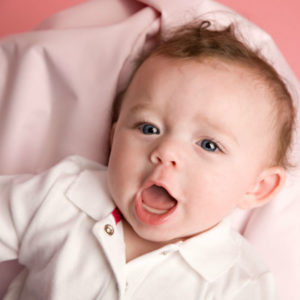 Illustration of A 3-month-old Baby Babbles Slowly?