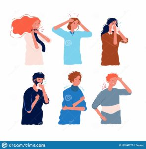 Illustration of How To Deal With Fever, Dizziness And Body Aches?