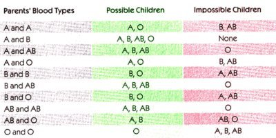Illustration of Can Blood Types A RH + And ARH- Have Offspring?