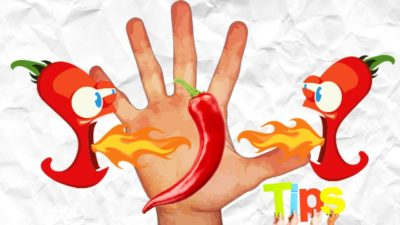 Illustration of Burning Hands After Eating Spicy?