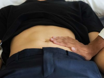 Illustration of The Left Abdomen Is Sore And Hardened With A History Of Postpartum Ascites?