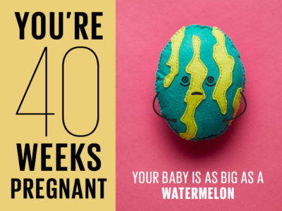 Illustration of 40 Weeks Pregnant Is Not Yet Contracted?