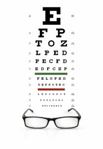 Illustration of Use Of Eyeglasses Or Contact Lenses For Minus Eyes And Cylinders.?