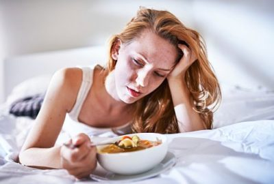 Illustration of Headache And Body Weakness When Late Eating?