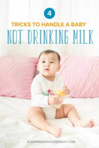 Illustration of 6 Month Old Babies Have Difficulty Drinking Milk?