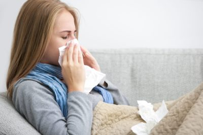 Illustration of Cough Until You Are Congested In Cold Weather And Dusty Places?