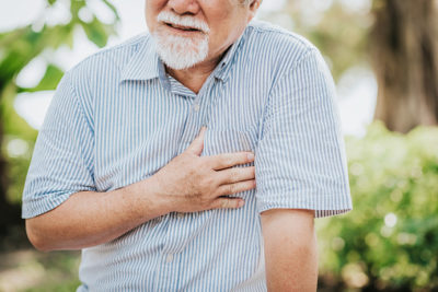 Illustration of Right-sided Chest Pain After Consumption Of Raw Foods?