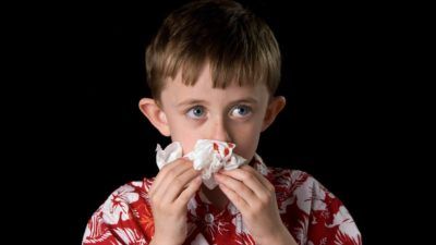 Illustration of Solution For 8-year-old Children With Singapore Flu Who Have Nosebleeds Every Day?