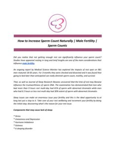 Illustration of How To Increase Sperm Count For Examination?