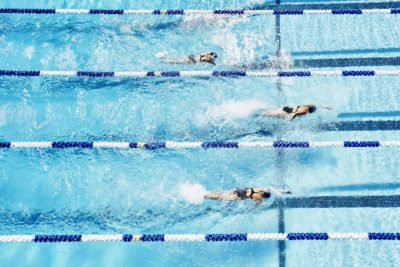 Illustration of HIV Transmission If Swimming In Public Swimming Pools?