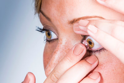 Illustration of Why Every Time You Wear Eye Contact Lenses Are Always Sore, Hot And Runny?