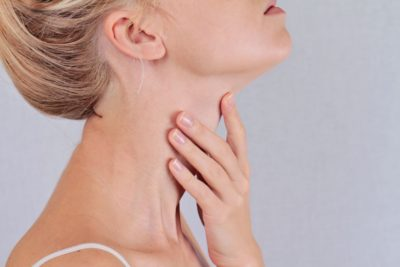 Illustration of Lump In The Right Neck Under The Jaw, Can Move If Touched?