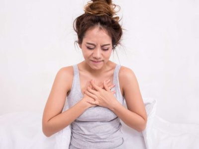 Illustration of Middle Chest Pain When Tired?