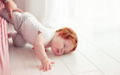 Illustration of A 3 Month Old Baby Falls Out Of Bed But Doesn't Cry, Does It Need To Be Taken To The Hospital?