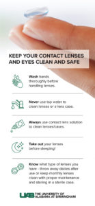 Illustration of How To Care Contact Lenses?