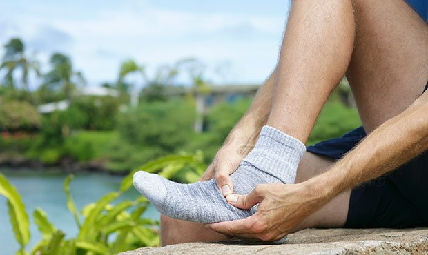 Illustration of Feet Aches And Cramps Under The Knee After Exercise?
