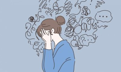 Illustration of Often Feel Scared At Night And Isolate Yourself. Symptoms Of Schizophrenia?