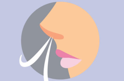 Illustration of The Cause Of Difficulty Breathing Air Through The Nose?