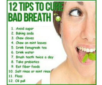 Illustration of How To Deal With Bad Breath?
