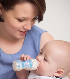 Illustration of Can 9-month-old Babies Who Drink Soy Milk Turn Into Cow's Milk?