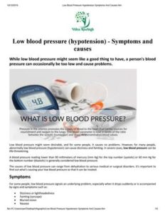 Illustration of Effects Of Low Blood Pressure With Fertility?
