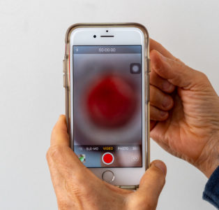Illustration of Convex Eyes When You See The Cellphone Screen?