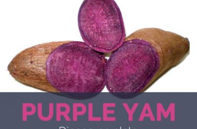 Illustration of How Many Calories Are Steamed Purple Yam?