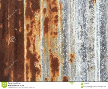 Illustration of Scratch Due To Zinc That Has Rust?