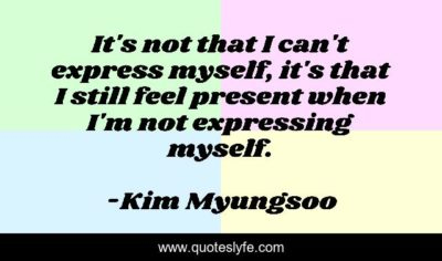 Illustration of Why Can't I Express Myself And Feel That I'm Not Just Me?