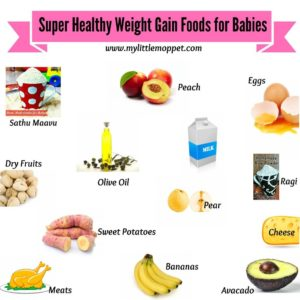 Illustration of Weight Gain Food For Children Aged 7 Months?