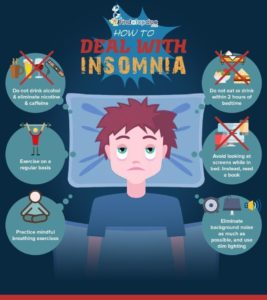 Illustration of How To Deal With Insomnia?