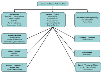 Illustration of Treatment Of Diarrhea, Fever And Abdominal Pain In Children?