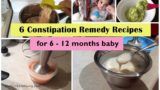 Constipation In 6 Month Babies?