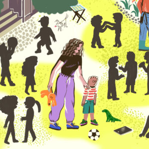 Illustration of Children 3 Years Do Not Want To Interact Socially?