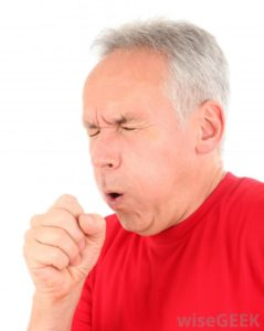 Illustration of Cough Accompanied By Sounds From The Throat?