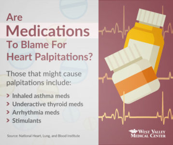 Illustration of Heart Palpitations After Taking Asthma Medication?