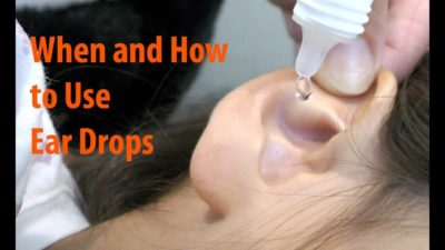 Illustration of Use Of Ear Drops On An Infected Ear?