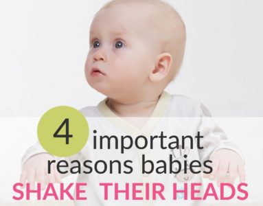 Illustration of Shaking Head While Sleeping At 5 Months Old Baby.?