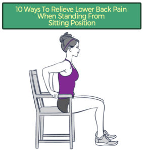 Illustration of Back Pain When Changing Positions From Sitting Or Standing?