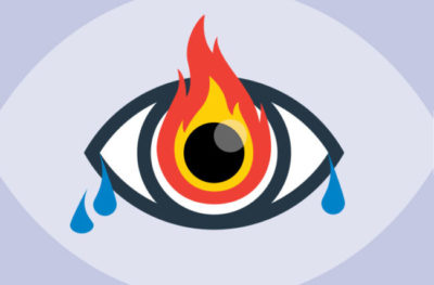 Illustration of Why Next To The Eyes Suddenly Feel Hot?