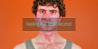 Illustration of The Body Feels Hot And Sweats After Drinking?