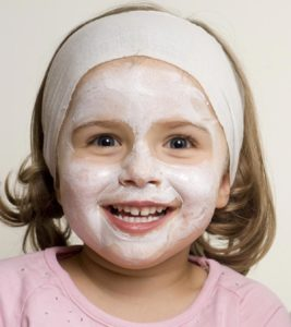 Illustration of Facial Treatment For Children Aged 14 Years?
