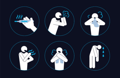 Illustration of Fever Up And Down Accompanied By Coughing Colds And Vomiting In Children Aged 11 Months?