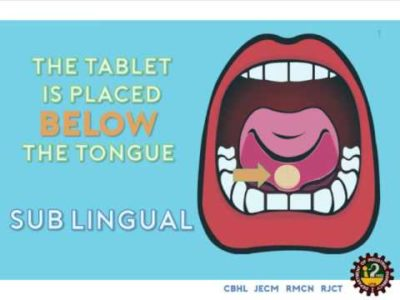 Illustration of How To Consume Sublingual Tablets?